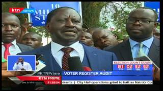 NASA Flag bearer Raila Odinga blames IEBC for lack of proper advertisement of verification exercise