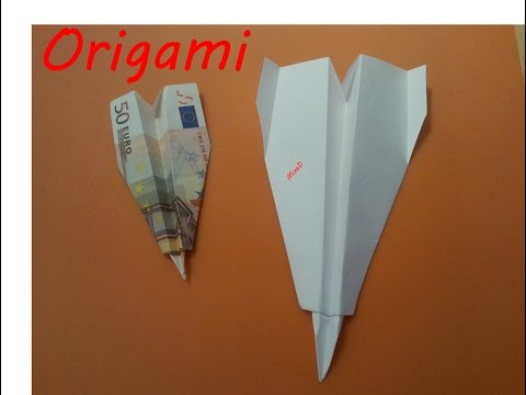 Papierflieger 2 Origami Geldgeschenk Paper plane Gift of money How to