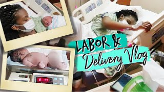 LABOR & DELIVERY VLOG|9LB BABY!