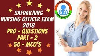 Safdarjung Nursing Officer Exam   2018 Pro Question Challenge 2