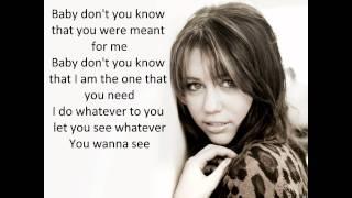 Miley Cyrus - breathe on me (Lyrics)