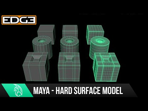 Maya Tutorial for Beginners – Hard Surface Subdivision / High Poly Modeling quick intro