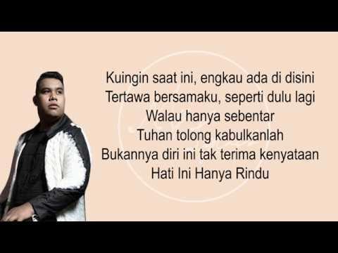 Kumpulan Lirik Lagu Hanya Rindu Andmesh Wattpad