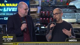 David Goyer and Ben Snow Take The Stage At SWCC 2019   The Star Wars Show Live!