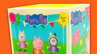 Свинка Пеппа коробка сюрпризы с игрушками внутри