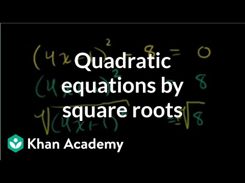 A thumbnail for: Quadratic equations
