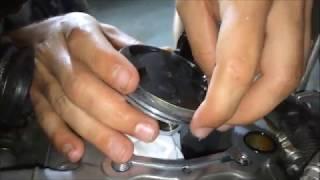 How To: Piston Ring Install - 4 Stroke Dirt Bike (kx250f)