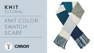 Knit the Colour Swatch Scarf Tutorial
