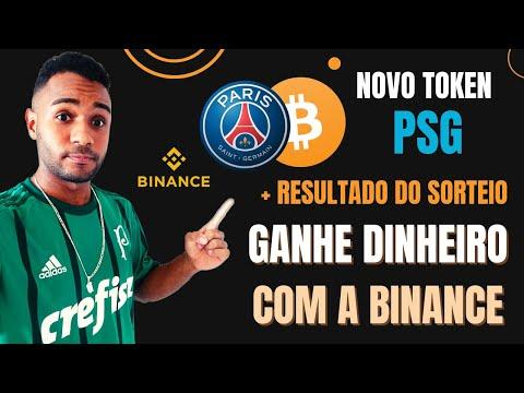 GANHAR DINHEIRO COM A BINANCE  | NOVO TOKEN PSG  | + RESULTADO DO SORTEIO NO PAYPAL
