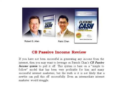 CB Passive Income Review That Tell It Like it really isโ€ฆ