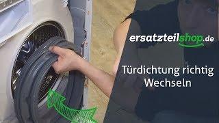 Türdichtung Waschmaschine tauschen - so geht es!