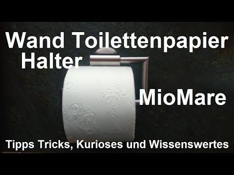 Edelstahl Wand Toilettenpapierhalter Miomare Toilettenpapier Halter Wandmontage Lidl Unboxing