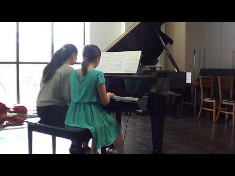A Piano Duet at a Spring Recital in 2018.