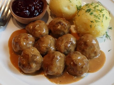 Swedish Meatballs Recipe — Beef & Pork Meatballs with Creamy Brown Gravy