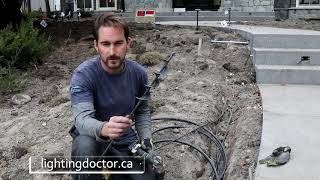 How to Install Low Voltage Landscape Lighting - How to Tunnel under a sidewalk