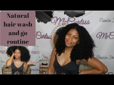 , title : 'Natural hair wash and go routine'