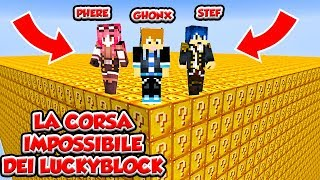 MINECRAFT ITA - La corsa dei LUCKYBLOCK w/ Two Players One Console