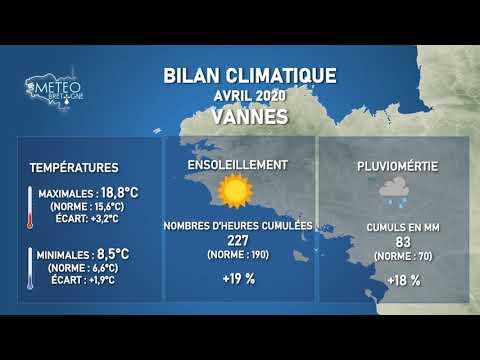 Illustration de l'actualité Bilan climatique du mois d'avril 2020 en Bretagne