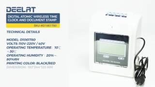 Digital Atomic Wireless Time Clock and Document Stamp