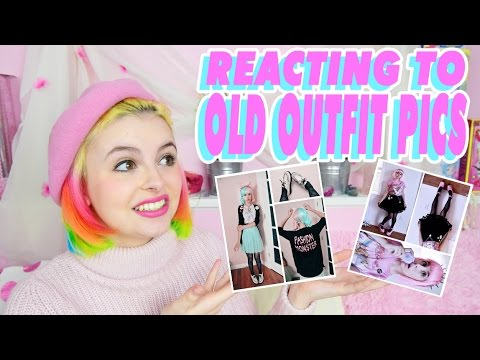 ♡ REACTING TO MY OLD OUTFIT PICS ♡