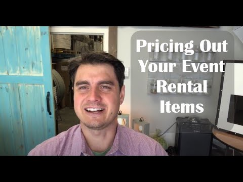 Pricing Out Your Event Rentals - What to Charge Your Clients