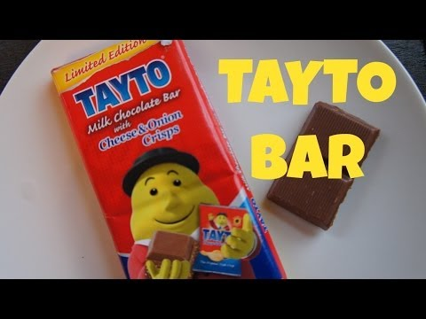 Emmy Eats a Tayto Bar | Cheese & Onion Crisp Chocolate Bar