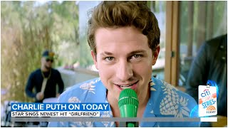 Charlie Puth sings his new hit 'Girlfriend' on Today Show. July 3, 2020