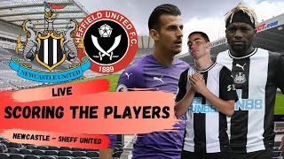 Scoring the Players   Newcastle United 3-0 Sheffield United