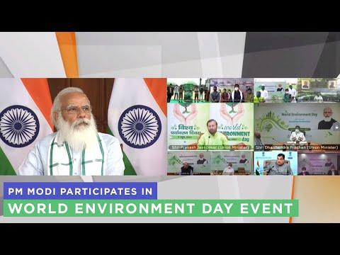 PM Modi participates in World Environment Day event