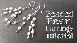 DIY Beaded Pearl Earrings Tutorial