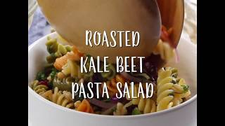 Roasted Kale Beet Pasta Salad