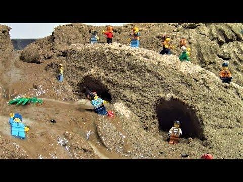 LEGO Bridge Collapse After Dam Break! Hard Flood!