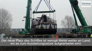 Schiff in Magdeburg geborgen