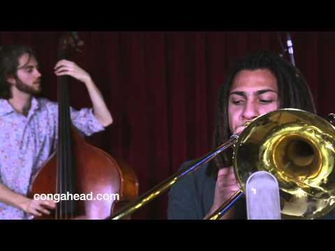 Performing one of my compositions for congahead.com