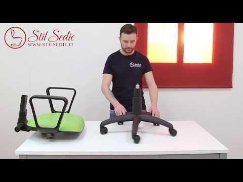 Girevole Guida al montaggio della sedia Stil Sedie Chair Assembly Guide - Made in Italy