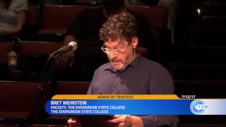 Professor Bret Weinstein on what happened at Evergreen College