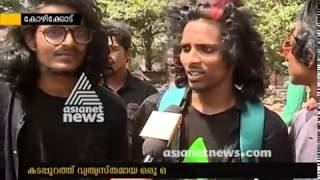 Variety meeting of long haired youths in Kozhikode beach