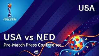 USA v. NED - USA Pre-Match Press Conference