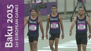 Israel Victorious In The Mens 4x100m Relay | Athletics | Baku 2015 European Games