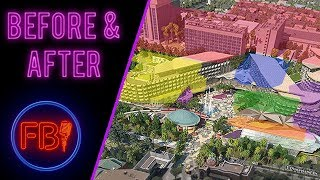 Downtown Disney before and after with new Hotel and Resort
