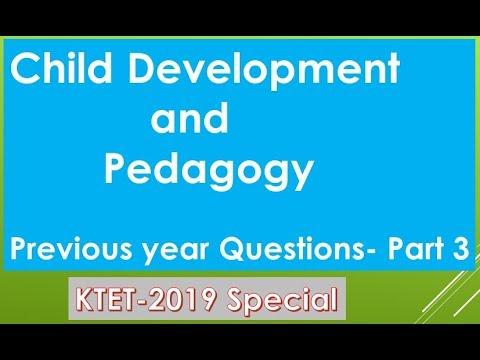 KTET Previous year Question| Child Development and Pedagogy