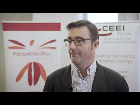 Andrés Antón de Bioarray en el HUB de Innovación Colaborativa.[;;;][;;;]