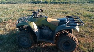 How to drive a manual transmission 4 wheeler!