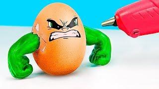 9 DIY Superhero Easter Eggs / Creative Easter Egg Coloring Tips!