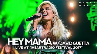 "David Guetta & Bebe Rexha Performing ""Hey Mama"" At 'iHeartRadio Music Festival 2017'"
