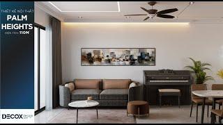 Mẫu thiết kế nội thất căn hộ 110m2 tại dự án Palm Heights