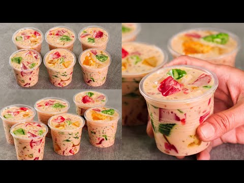 CATHEDRAL WINDOW JELLY SAGO DRINK | HEALTHY SUMMER DRINK | TAPIOCA DRINK | N'Oven