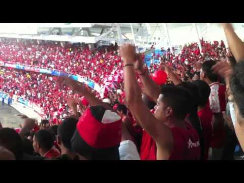 """""""Baron Rojo Sur-La hinchada de los cantos-América vs Patriotas Promoción 2011"""" Barra: Baron Rojo Sur • Club: América de Cáli"""
