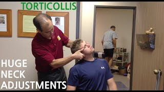 EXTREME neck pain & TORTICOLLIS is GONE with TWO HUGE NECK ADJUSTMENT