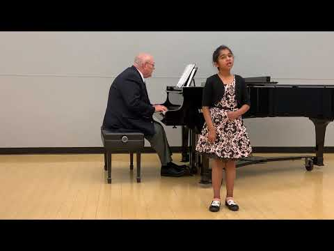 Adhia Mahesh performing Alma del Core at MTAC Branch recital.